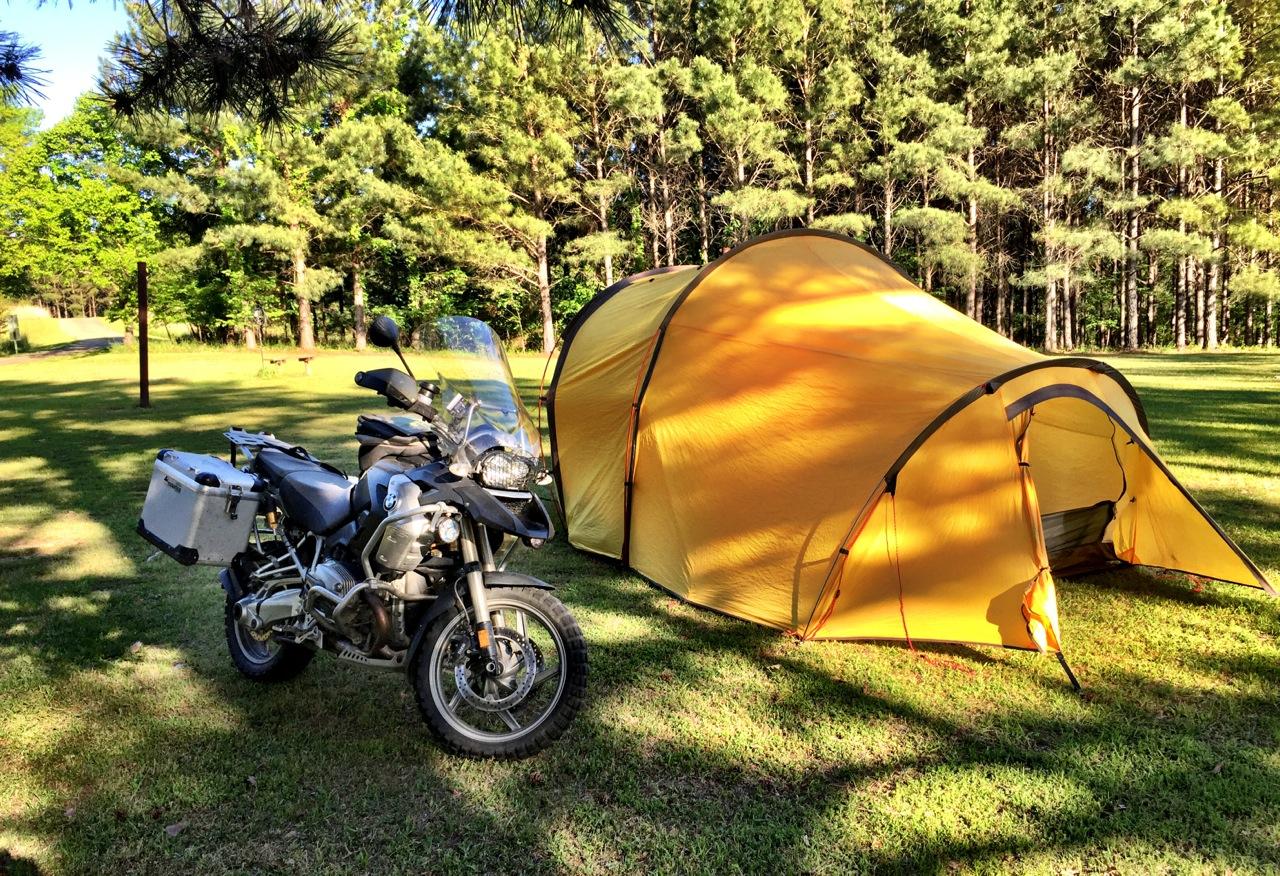 Atacama motorcycle tent to Alaska